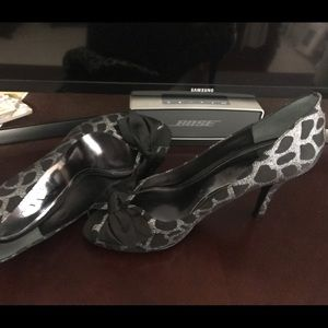 Ladies black and silver heels.